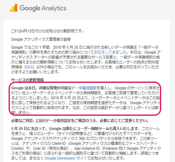 Googleアナリティクスのデータ保存期間を無期限にする方法